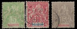 YT 46 Au 48 - Réunion (1852-1975)
