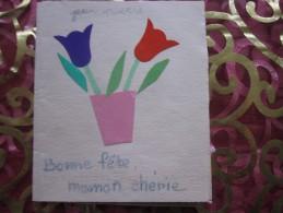 DESSIN ENFANTIN THEME DE LA FETE DES MERES BONNE FETE MAMAN Chérie Collage => POUR TOI MAMAN + POEME EMOUVANT - Vieux Papiers