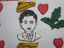 DESSIN ENFANTIN THEME DE LA FETE DES MERES BONNE FETE MAMAN Chérie Collages => POUR TOI MAMAN + POEME EMOUVANT - Vieux Papiers