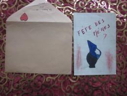 DESSIN ENFANTIN THEMEDE LA FETE DES MERES BONNE FETE MAMAN Chérie Collages=> POUR TOI MAMAN + POEME EMOUVANT - Vieux Papiers