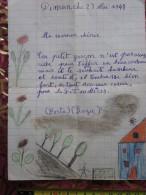 1948 DESSIN ENFANTIN THEMEDE LA FETE DES MERES BONNE FETE MAMAN Chérie Collages=> POUR TOI MAMAN + POEME EMOUVANT - Vieux Papiers