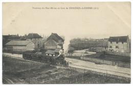 SERRIÈRES-de-BRIORD (Ain) Tramway à Vapeur Entrant En Gare - France