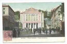 ITALIE... SAVONA. Piazza Garibaldi. Teatro Chiabrera - Savona