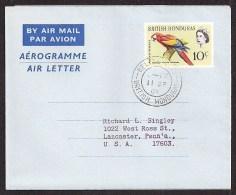 BRITISH HONDURAS Aerogramme 10c Queen & Macaw 1964 Belize City Cancel To USA! STK#X20006 - Honduras Britannique (...-1970)
