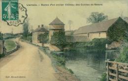 21 LIERNAIS / Restes D'un Ancien Château Des Comtes De Nevers / CARTE COULEUR GLACEE - France