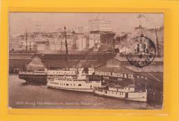 ETATS-UNIS - WASHINGTON - SEATTLE - TRANSPORT - BATEAUX - Along The Waterfront, Seattle, Washibgton - Seattle