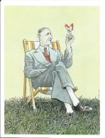 Dessin Humoristique Imprimé/De Gaulle Et Le Papillon/Cohen /années Soixante   GRAV80 - Gravures