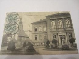 CPA  GREIFSWALD NICOLAISTRASSE UND KAISERIN AUGUSTASCHULE  1910 - Greifswald