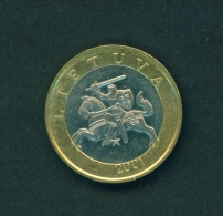 LITHUANIA  -  2001  2l  Circulated Coin - Lithuania