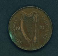 IRELAND  -  1931  1d  Circulated Coin - Ireland