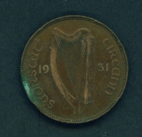 IRELAND  -  1931  1d  Circulated Coin - Irlande