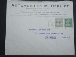 """ALGERIE - Env Commerciale """"Auto BERLIET"""" De Constantine Pour La Métropole Mars 1925 - A Voir - P 14935 - Argelia (1924-1962)"""