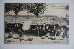 CPA MALI SOUDAN NIGER NYAMINA. Marché De Nyamina. Carte Animée. - Mali