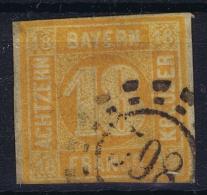 BAYERN:  Mi Nr 7, Yvert 8  Used 1850  Mühlradstempel - Bavaria