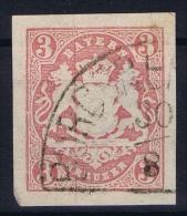 BAYERN:  Mi Nr 15 Yv Nr 16  Used  1867 Halbkreis-Stempel Von Burghausen - Bayern