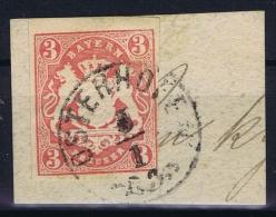 BAYERN:  Mi Nr 15 Yv Nr 16  Used  1867 Osterhofen Volstempel - Bayern