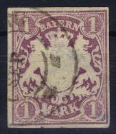 BAYERN:  Mi Nr 30 A   Yv Nr 36 Used  Has A Thin Spot - Bavaria