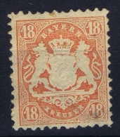 BAYERN:  Mi Nr 36 MH/*    1875 - Bayern