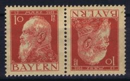 BAYERN:  Mi Nr K2 Kehrdruckpaare  MH/* - Bayern