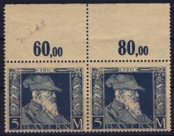 BAYERN:  Mi Nr 89 I  MNH/** Pair Randstuck   1911 - Bayern