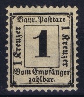 BAYERN:  Mi Taxe Porto Nr 2 Y  MH/* - Bayern