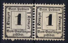 BAYERN:  Mi Taxe Porto Nr 2 Y  MNH/**  Pair - Bayern