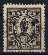 BAYERN:  Mi Nr 191 Used - Bavaria