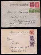 1937 TWO LETTERS TOKIO Via SIBERIA > BERLIN -- Skarbina - 1926-89 Empereur Hirohito (Ere Showa)