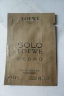 Loewe Echantillon Solo Cedro - Parfums & Beauté