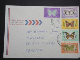 ILE NORFOLK - Env Pour La France - Thématique Papillon - Jolie Lettre - A Voir - P 14941 - Ile Norfolk