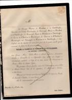 De Nieulant De Pottelsberghe (°Moerzeke) Née Huysman D'Honssem + Bruxelles 30/9/1859 Haute Croix T'Serclaes Noorderwijk - Décès
