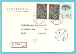 2022 Op Brief Aangetekend Met Stempel BRUGGE 8 - 1981-1990 Velghe