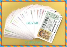 AÑO 2015 COMPLETO LOTERÍA NACIONAL DE LOS SABADOS 51 DECIMOS - Billetes De Lotería