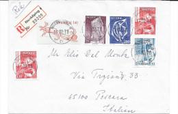 1978 SVERIGE NORRKOPING To PESCARA ITALY IN REGISTERED - Cartas