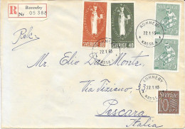 1965 SVERIGE RONNEBY To PESCARA ITALY IN REGISTERED - Cartas
