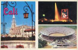 Lote PEP950, Colombia, Postal, Postcard, Cali, Plaza De Toros, Bullring, Church La Ermita, Not Perfect Card - Colombia