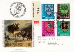 Schweiz : Tag Der Briefmarke 1978 - MiNr. 1142 / 1145      R-Karte - Schweiz