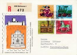 Schweiz : Tag Der Briefmarke 1983 - MiNr. 1260 / 1263    R-Karte - Gebraucht
