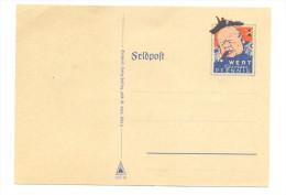 GERMANY WWII UNUSED PROPAGANDA FELDPOST CARD  ON WINSTON CHURCHILL´S FLEET - PERFECT CONDITION - Allemagne
