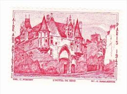 Vignette - Aide Aux Artistes - L'hotel De Sens - Paris - 1942 - Erinnophilie