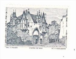 Vignette - Aide Aux Artistes - L´hotel De Sens - Paris - 1942 - Erinnophilie