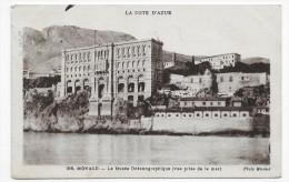 (RECTO / VERSO) MONACO N° 356 - LE MUSEE OCEANOGRAPHIQUE - VUE PRISE DE LA MER - CPA - Museo Oceanográfico