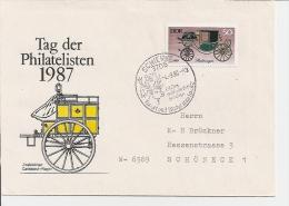 DDR 2152 EF  - Bedarfsbrief M. SST Schierke N. Schöneck BRD Verwendet - Lettres