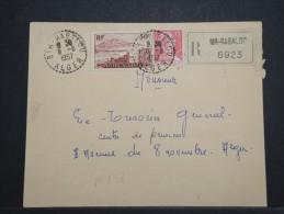 ALGERIE - Env Recommandée De Bir Rabalou Pour Alger - Aoùt 1957 - A Voir - P 14982 - Algérie (1924-1962)