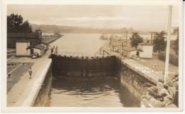 Sault Ste. Marie Minnesota, Locks Great Lakes Minnesota Ontario Canada Area C1940s Vintage Real Photo Postcard - United States