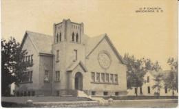 Brookings South Dakota, U.P. Church Building Architecture, C1910s Vintage Postcard - Brookings