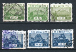 JAPON  1926 - Obl.   Y&T 191,193 - Série Courante - 2€
