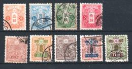 JAPON  1914 - Obl. Y&T 129,130,131,132,140,205,141,257,142  - Série Courante - 16€ - Japon