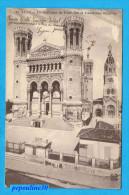 ** LYON (Rhône) LA BASILIQUE DE FOURVIÈRE ET L´ANCIENNE CHAPELLE ** 1913 ** - Kirchen U. Kathedralen