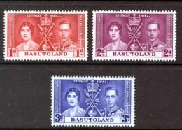 BASUTOLAND - 1937 GVI CORONATION SET (3V) SG 15-17 FINE MNH ** - Basutoland (1933-1966)